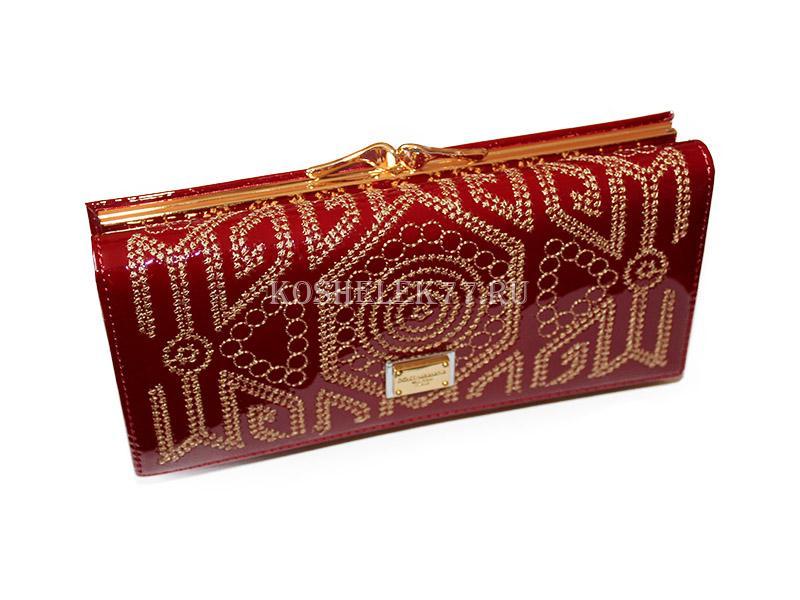 3dca07cc7a31 Кошелек Dolce Gabbana DG-5602E с вышивкой на застежке